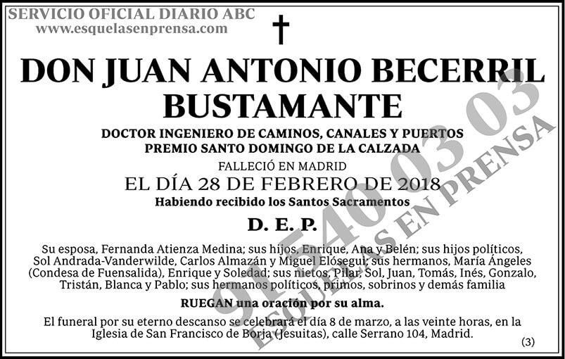 Juan Antonio Becerril Bustamante